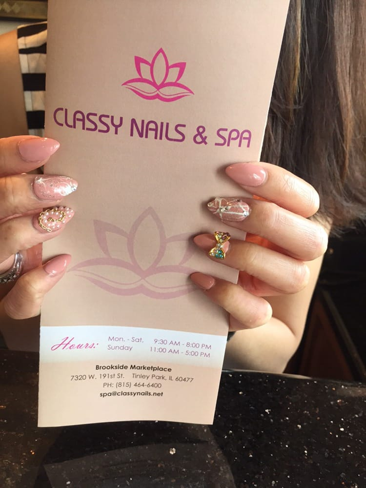 Full Set Stiletto Gel Nails With No Chip Polish Designs And Other