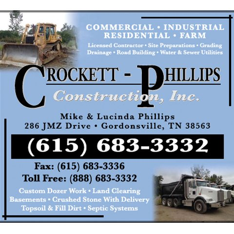 Crockett-Phillips Construction: 286 Jmz Dr, Gordonsville, TN