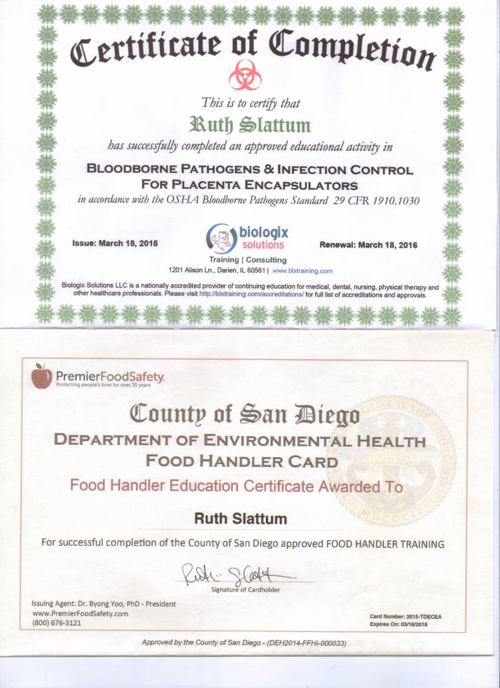 Certificates of Completion - \