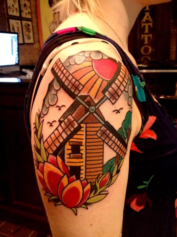 windmill tattoo by lauren b yelp. Black Bedroom Furniture Sets. Home Design Ideas