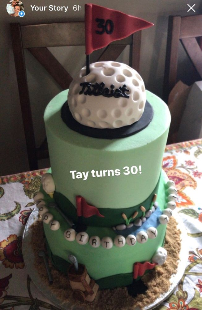 Golf themed cake for my golf crazed hubs Tay turns 30 was not