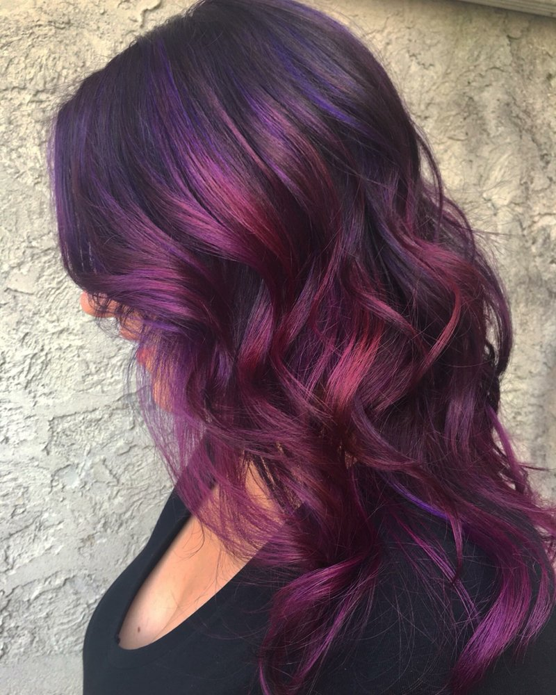 Rich Wine And Plum Color With Long Layers Yelp