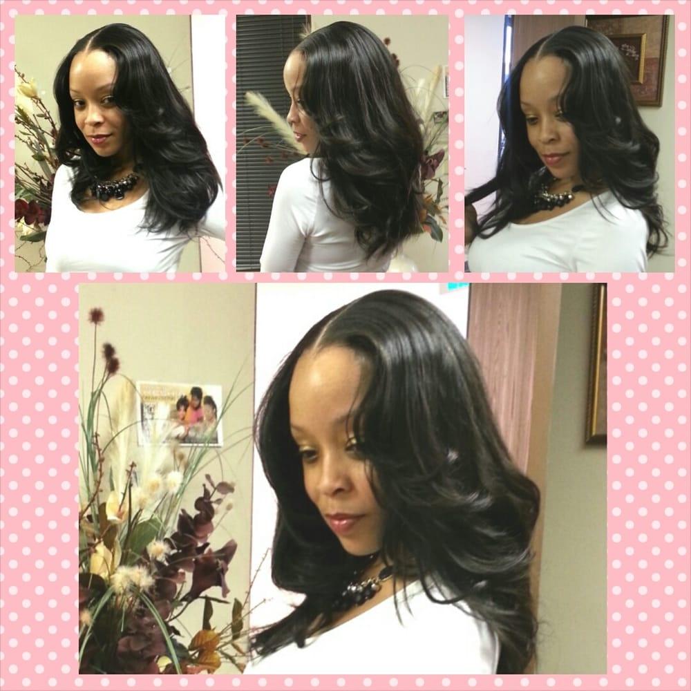 Full Head Sew In Weave Brazilian Hair Installed 16 3 Bundles