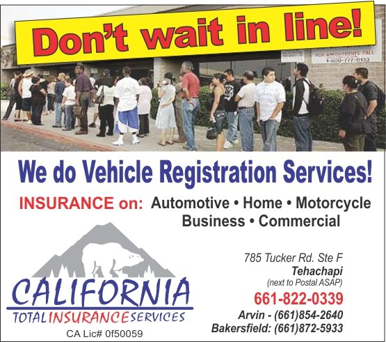 CALIFORNIA TOTAL INSURANCE SERVICES: 803 Bear Mountain Blvd, Arvin, CA