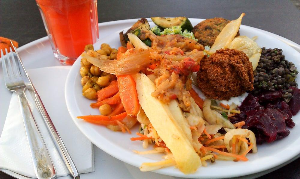 voller Teller mit allerleiGemüse, Antipasti einer Falafel,.... - Yelp