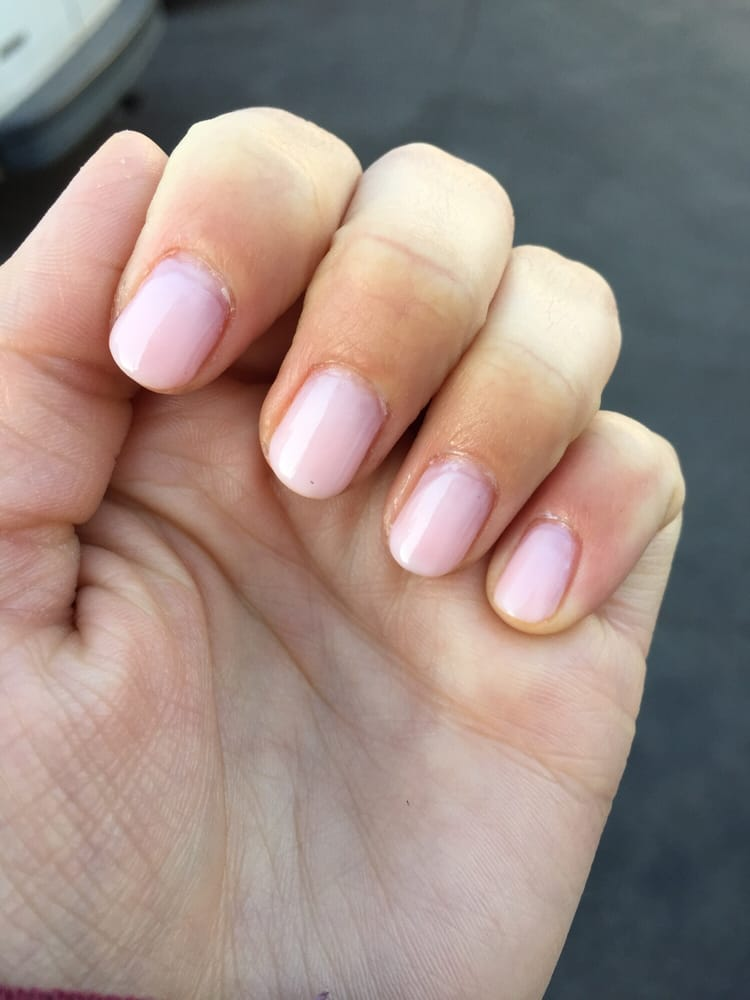 Rushed Manicure done by kelly. Uncut and painted cuticles. Looks ...