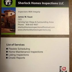 Sherlock Homes Inspections - Home Inspectors - Request a Quote