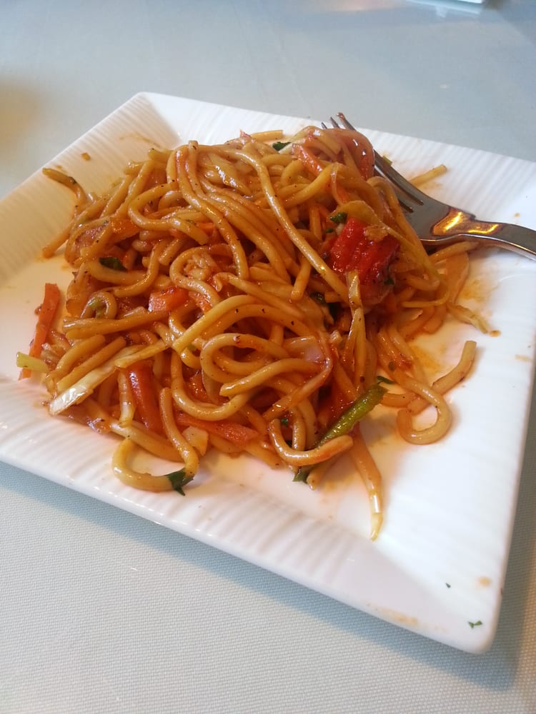 Spicy good hakka noodles and served hot great service for Angeethi indian cuisine leesburg va