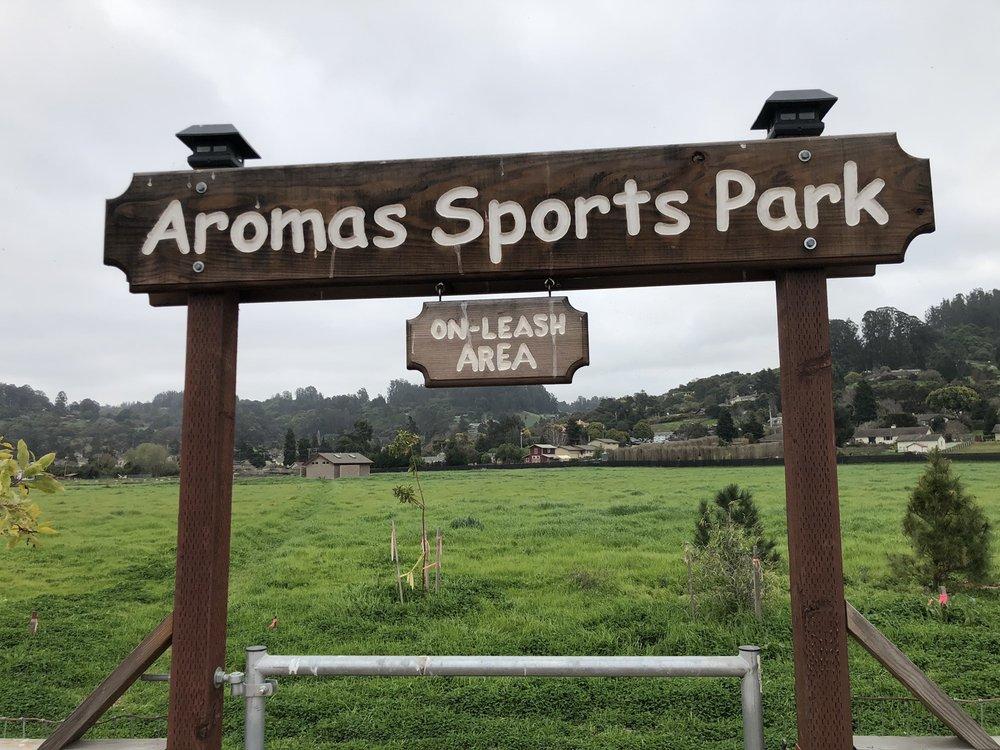 Aromas Dog Park: 300 Aromas Road,, Aromas, CA