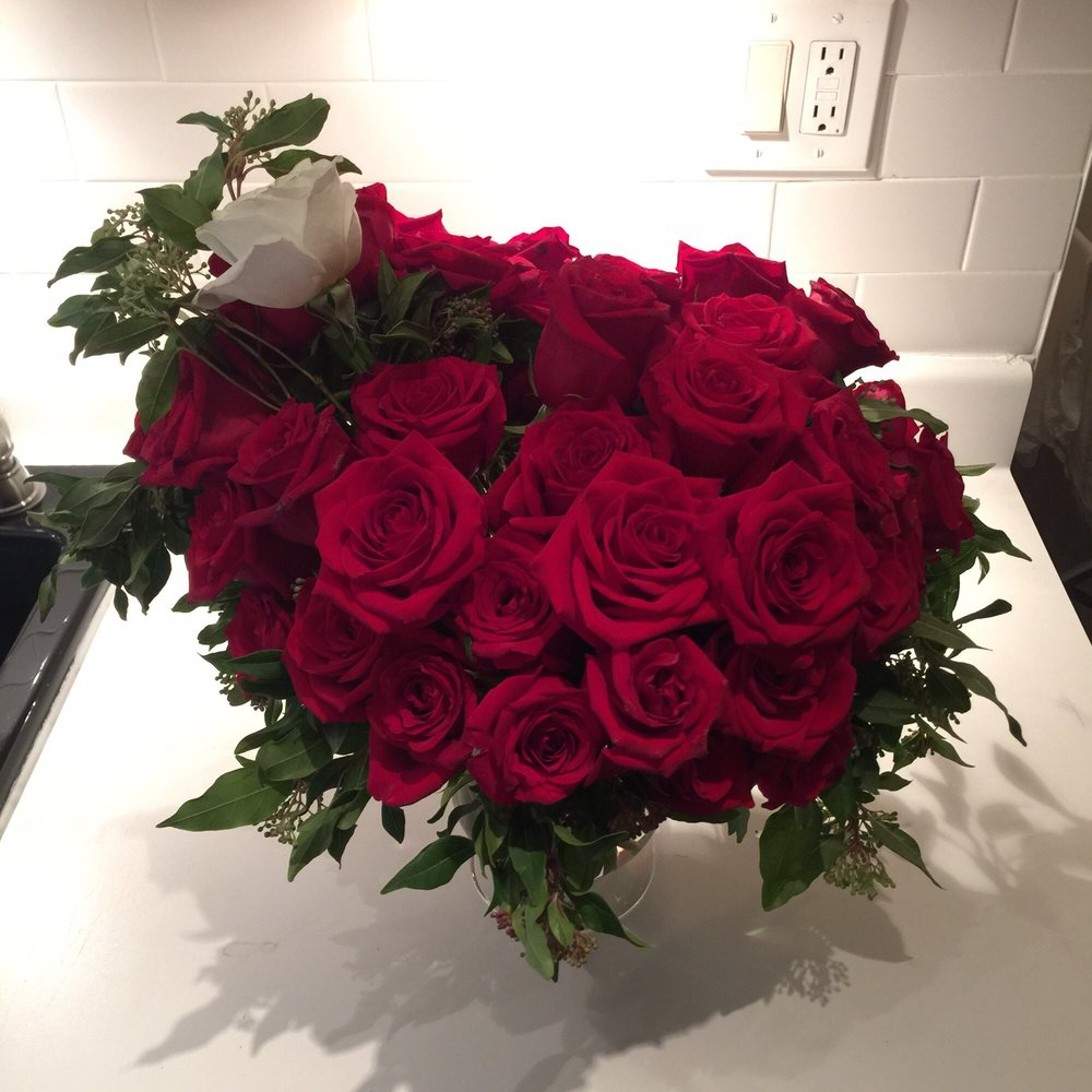 The best floral arrangement for me yet 50 beautiful roses for my photo of cala floral studio manhattan ny united states the best floral izmirmasajfo