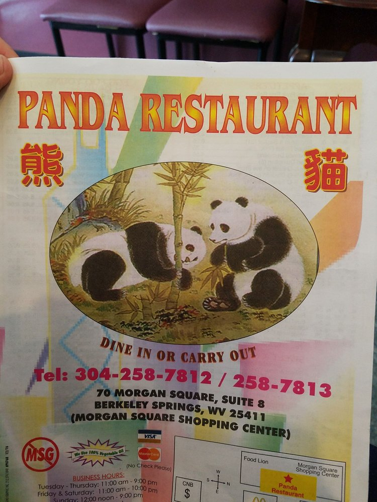 Panda Restaurant: 70 Morgan Sq, Berkeley Springs, WV