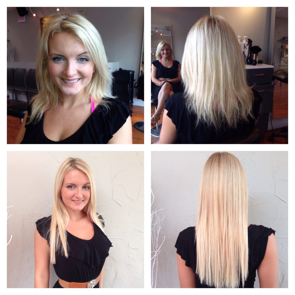 Before And After Make Over With Hotheads Hair Extensions Hair By