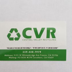 CVR Central Valley Recycling - Request a Quote - Dumpster