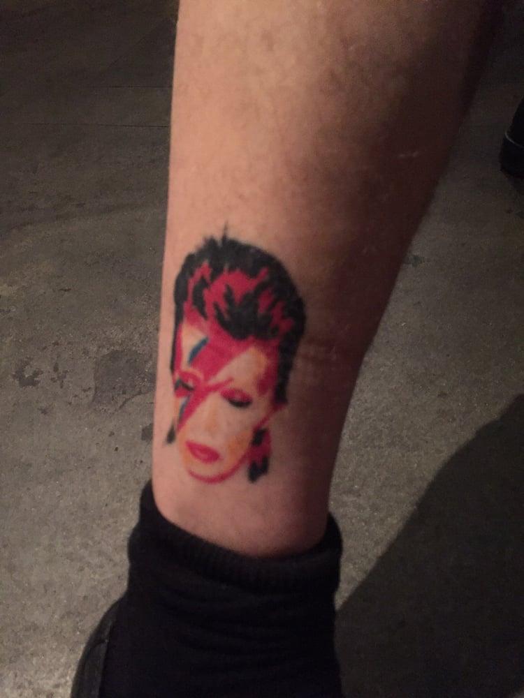 Ziggy stardust david bowie tattoo by ian goff yelp for David bowie tattoos