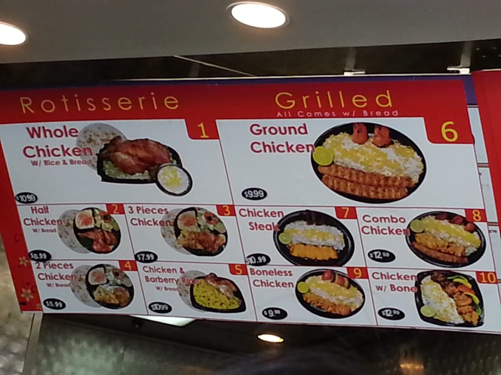 Left Side Of The Menu Yelp