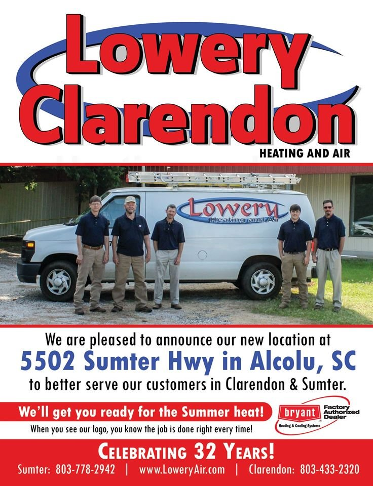 Lowery-Clarendon Heating & Air: 5502 Sumter Hwy, Alcolu, SC