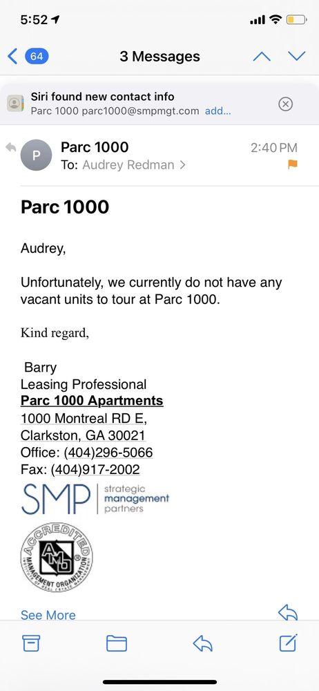 Parc 1000 Apartments: 1000 Montreal Rd E, Clarkston, GA