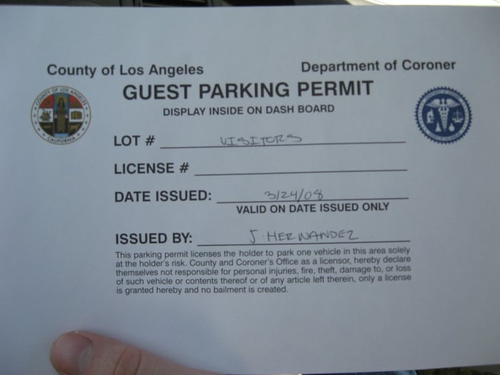 Don T Forget To Get A Parking Permit Yelp