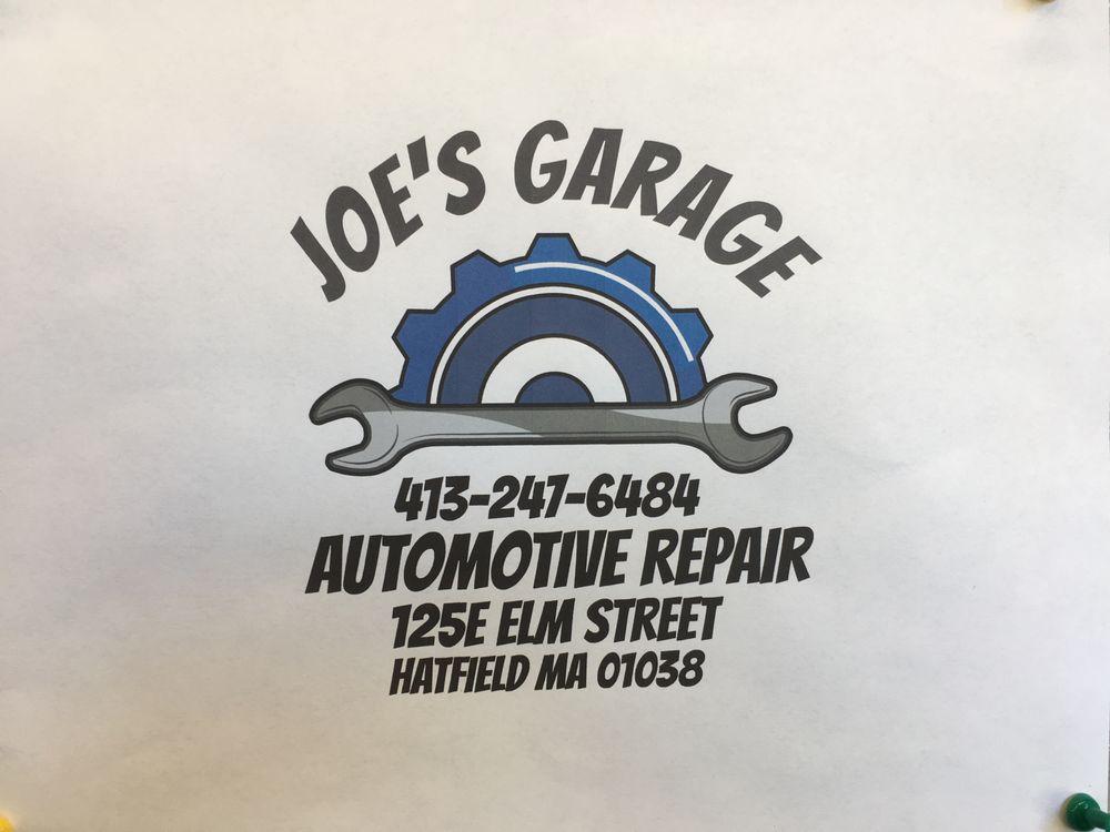 Joe's Garage: 125E Elm St, Hatfield, MA