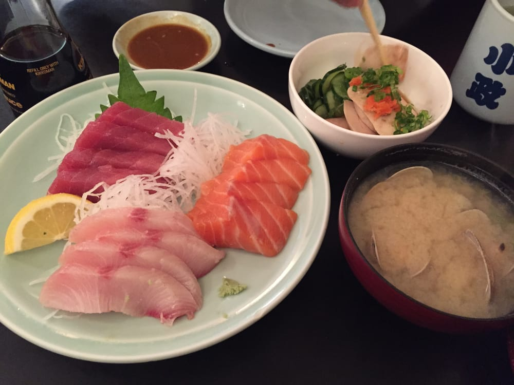Sashimi Half Order For 3 Different Types Of Fish Yellowtail Tuna
