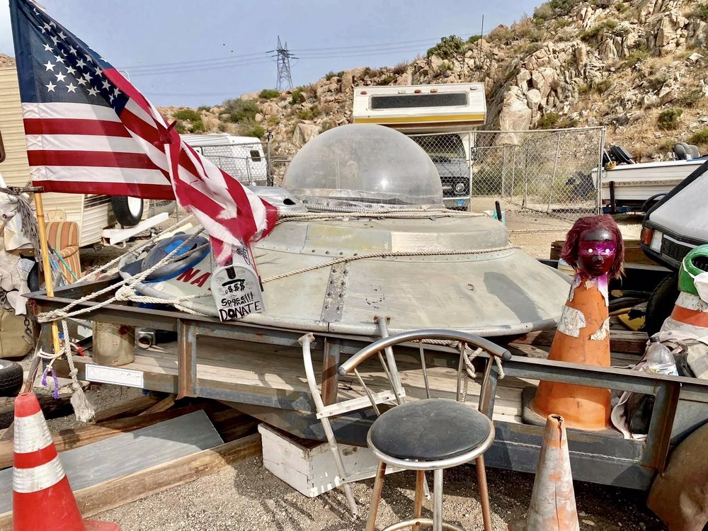 Coyote Flying Saucer Retrieval and Repair: 3-104 In Ko Pah Rd, Ocotillo, CA