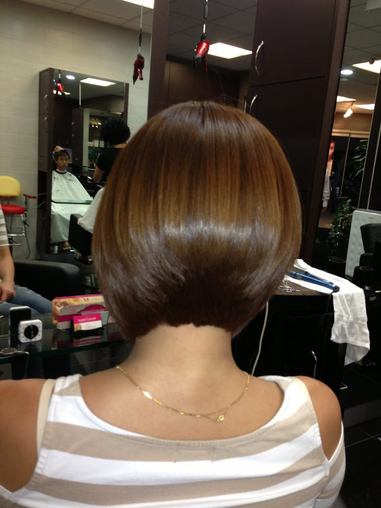 Quot Color Highlight Brazilian Blowout And Aline Bob Haircut