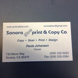 Sonora blueprint copy co printing services 730 mono way photo of sonora blueprint copy co sonora ca united states malvernweather Gallery