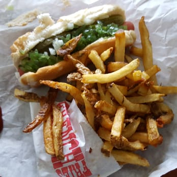 po of five guys chicago il united states dog and fries