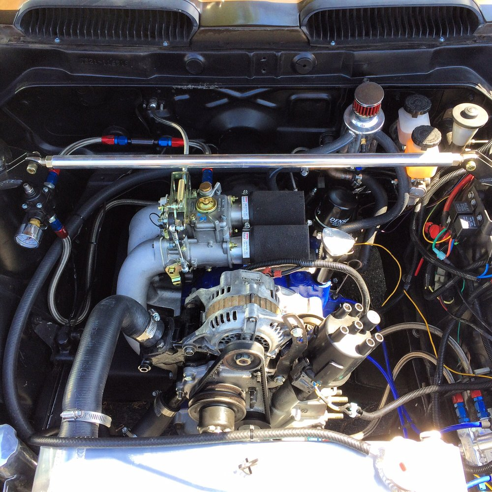 Toyota Starlet kp61 engine bay clean up for a high compression 4age