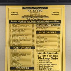 Route 22 Bbq - Barbeque - 1607 US Hwy 22 W - Union, NJ ...
