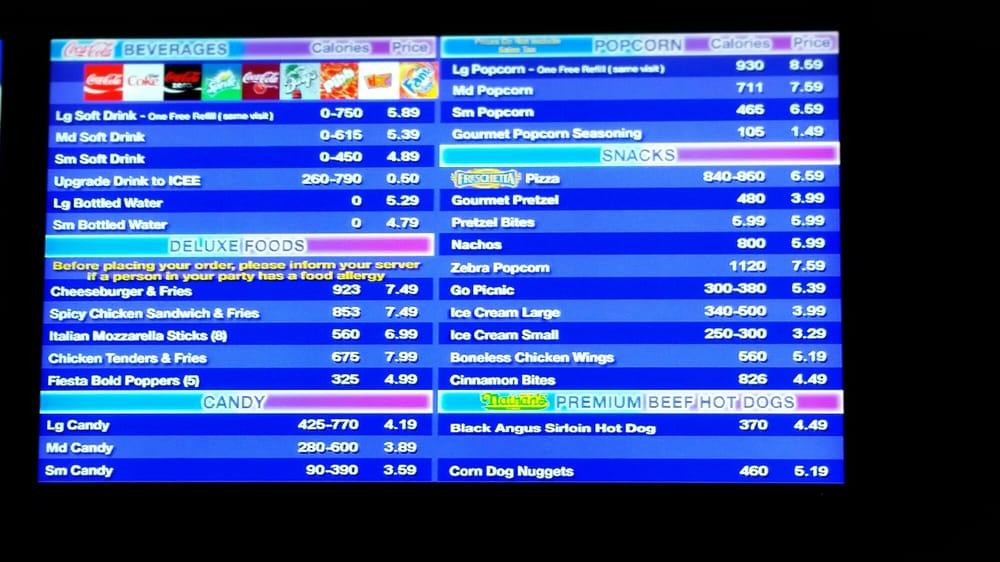 Concession menu yelp Regal cinemas garden grove showtimes