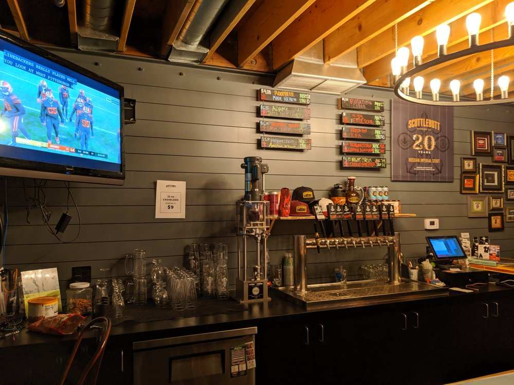 Scuttlebutt Brewing Taproom: 3310 Cedar St, Everett, WA