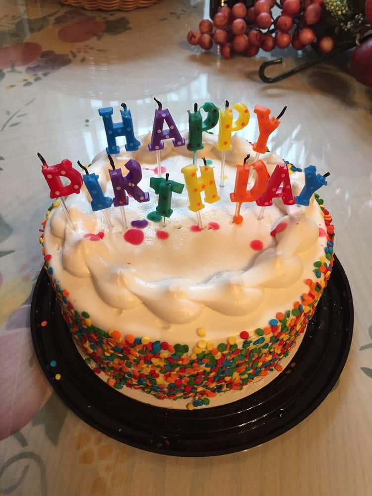 Last minute birthday cake $8 (confetti cake) - Yelp