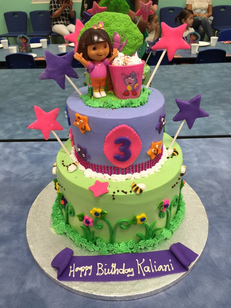 Dora the Explorer cake for my daughters 3rd birthday party