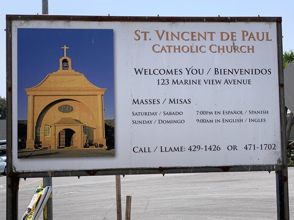 St Vincent De Paul Church: 123 Marine View Ave, Davenport, CA
