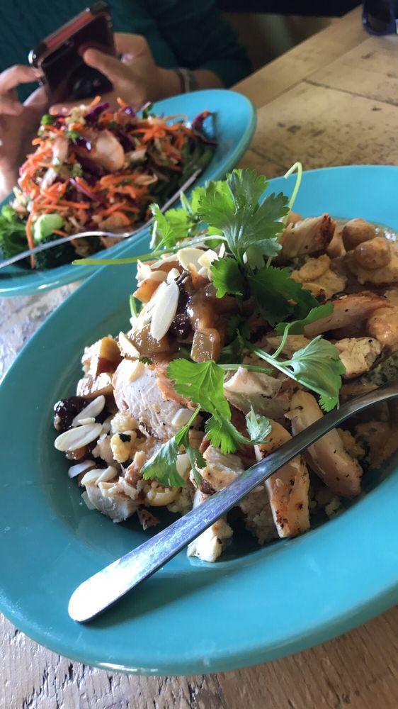 Moroccan bowl and Thai bowl with tofu - Yelp