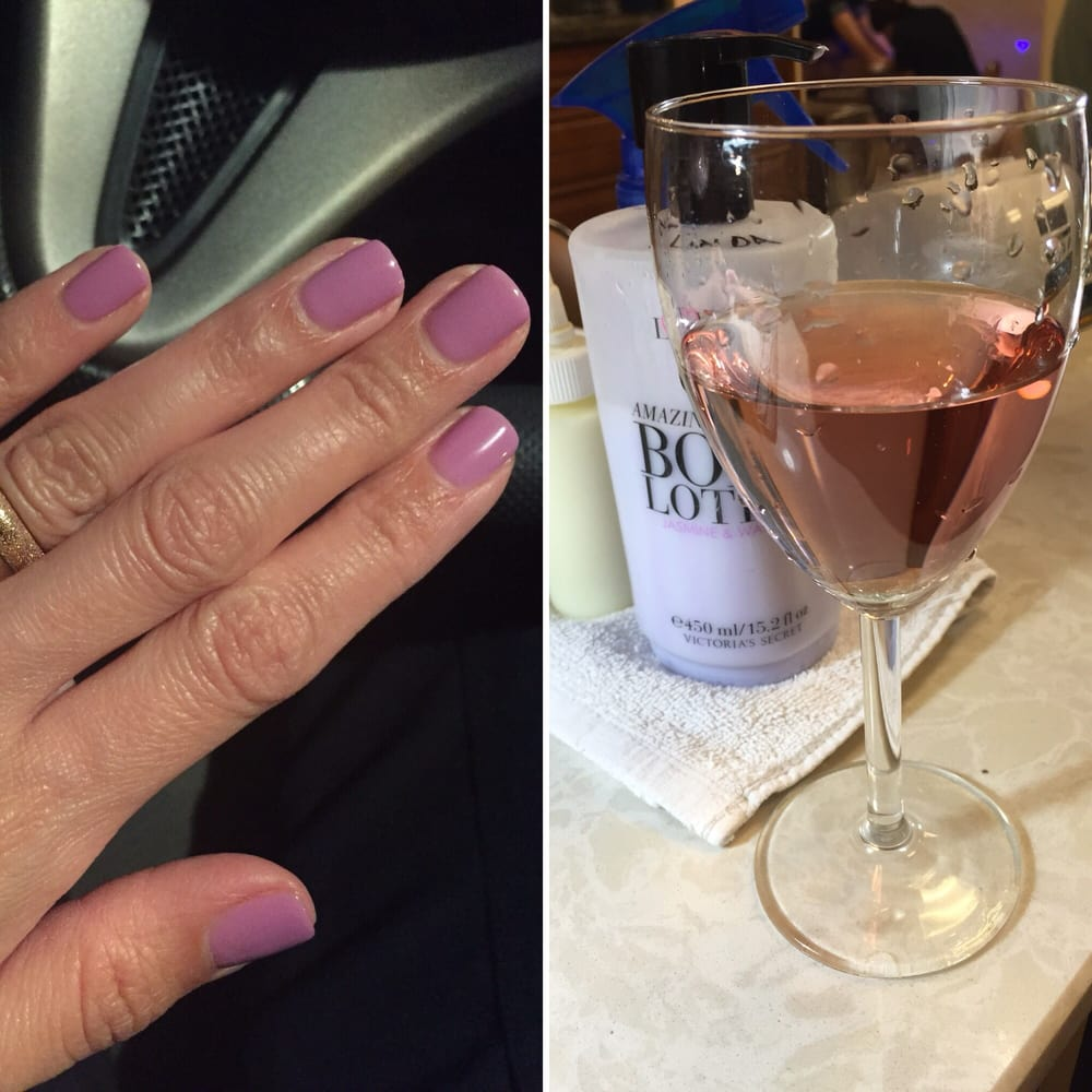 Gel manicure and my glass of wine yelp for 5 star nail salon