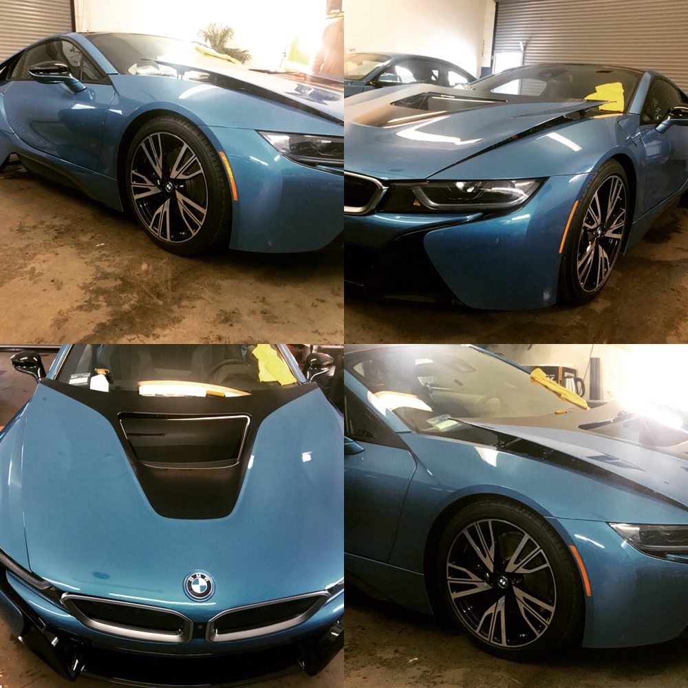 2016 Bmw I8 Wrap With Xpel Ultimate Film Ceramic Pro Gold Package