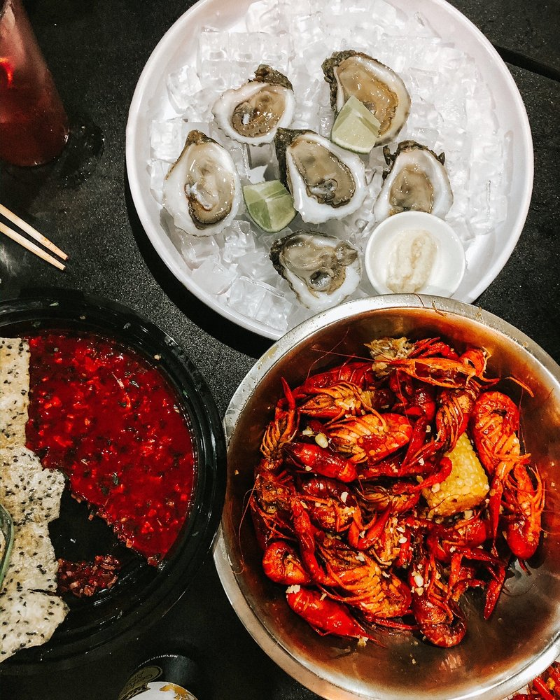 NJ Pho & Seafood: 10209 Veterans Memorial Dr, Houston, TX