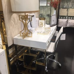 Photo Of ZGallerie   Houston, TX, United States. Gold And White Desk.