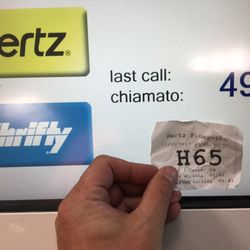 photo of hertz italiana fiumicino roma italy hurry up and wait - Rental Car Places That Accept Debit Cards