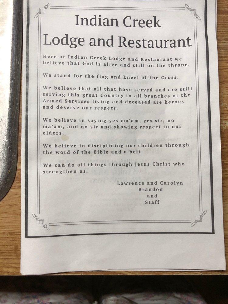 Indian Creek Lodge and Restaurant - Seafood - 118 Cedar Ln