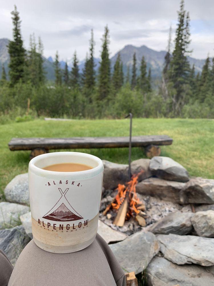 Alpenglow Luxury Camping: 31090 Glenn Hwy, Glacier View, AK