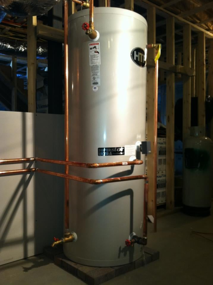 HTP SuperStore 120 gallon high efficient indirect hot water tank ...