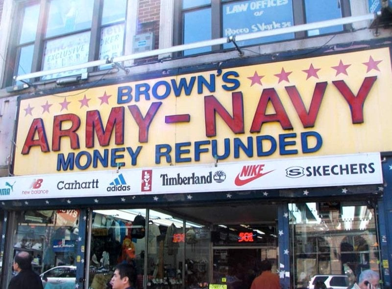 Brown's Army & Navy: 83-18 37th Ave, Jackson Heights, NY
