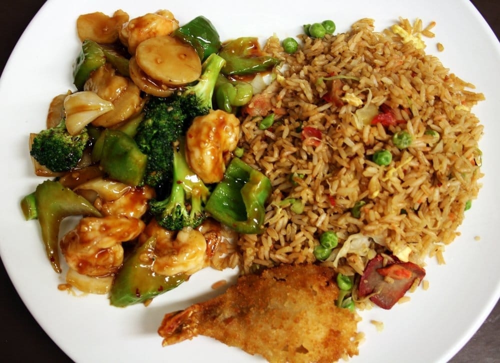 Dinner Combination 17 Shrimp W Garlic Sauce W Pork