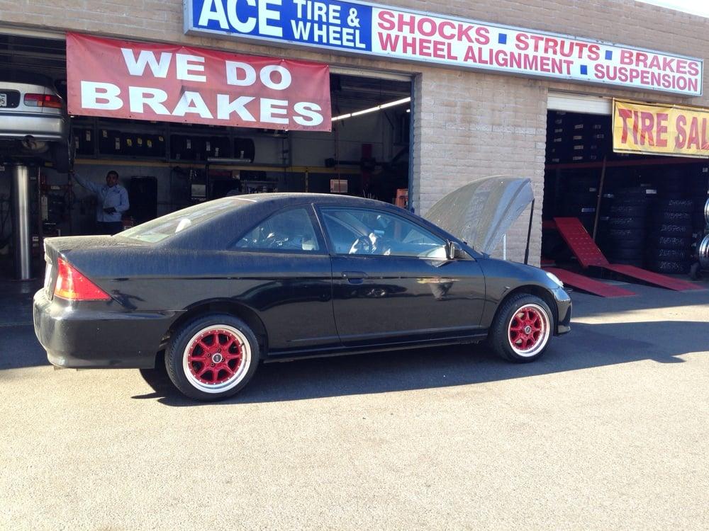 16str Racing Red Wheels On Honda Civic Yelp