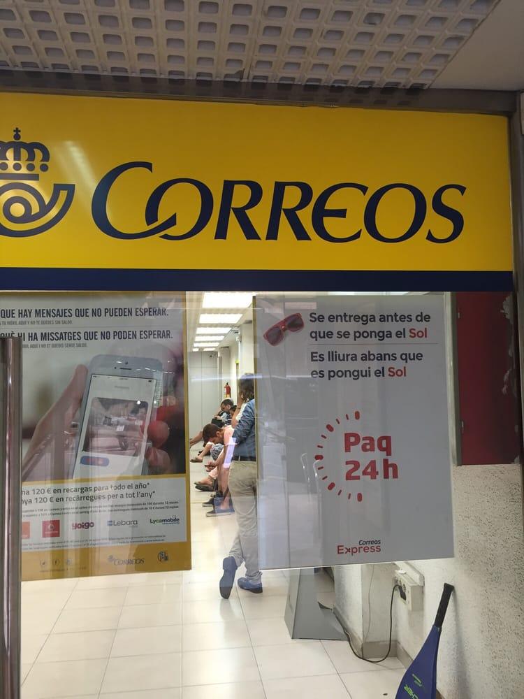 Oficina de correos uffici postali calle comte de for Oficina de correo barcelona