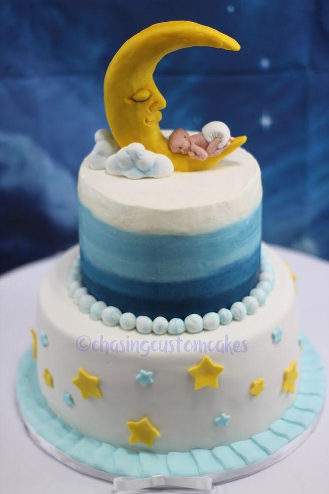 Moon And Stars Baby Shower Cake Yelp