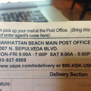 Manhattan Beach Ca Post Office Hours